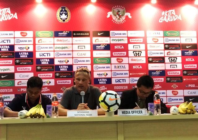 Komentar Pelatih Myanmar Usai Dibekuk Indonesia