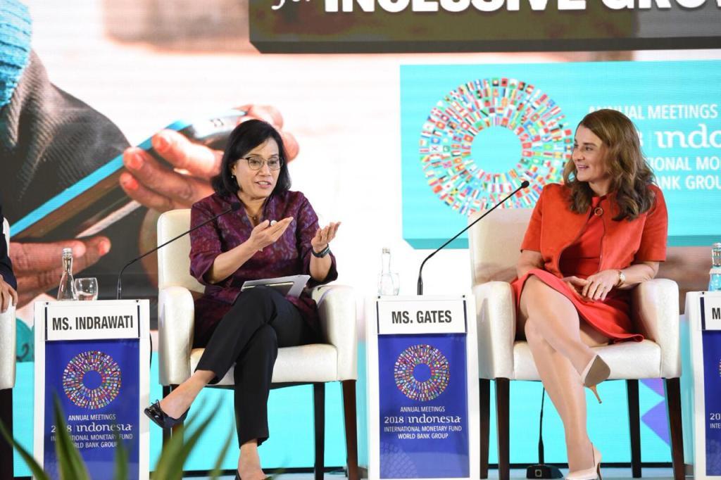 Menkeu dan Melinda Gates Bahas Peluang dari Kemajuan Teknologi