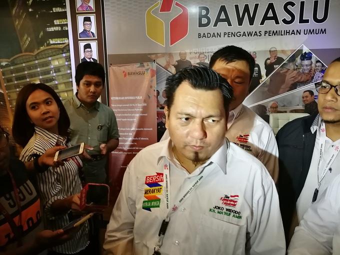 TKN Jokowi-Maruf Serahkan Bukti Kasus Ratna ke Bawaslu