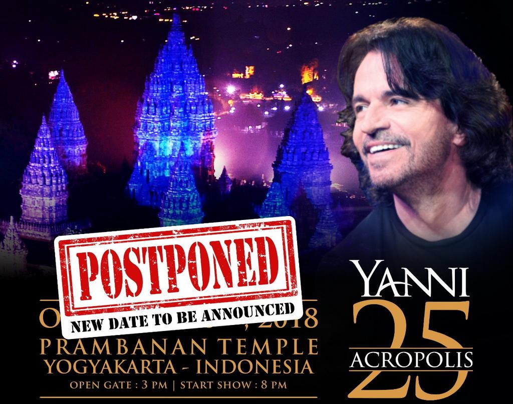 Alami Kecelakaan, Yanni Batal Konser di Prambanan Pekan Depan