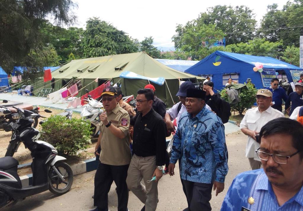 Dirjen PFM Kemensos Tinjau Posko Bencana di Palu