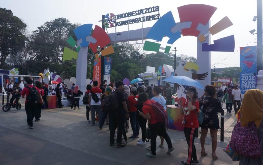 Kemeriahan Jelang Upacara Penutupan Asian Para Games 2018