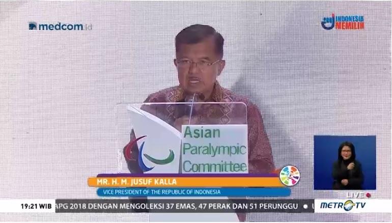 Kalla: Atlet Asian Para Games Pemenang Kemanusiaan