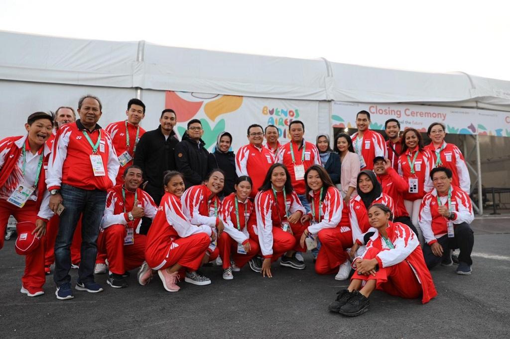 Menpora Datang, Atlet Youth Olympic Games Pecah Rekor