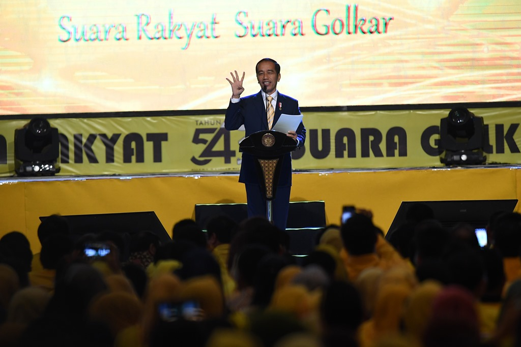 Jokowi Nilai Partai Golkar Makin Dewasa