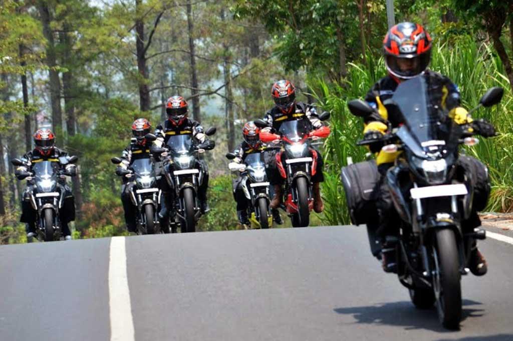 Etape Pertama Touring Keluarga Bandit Berakhir di Tulungagung