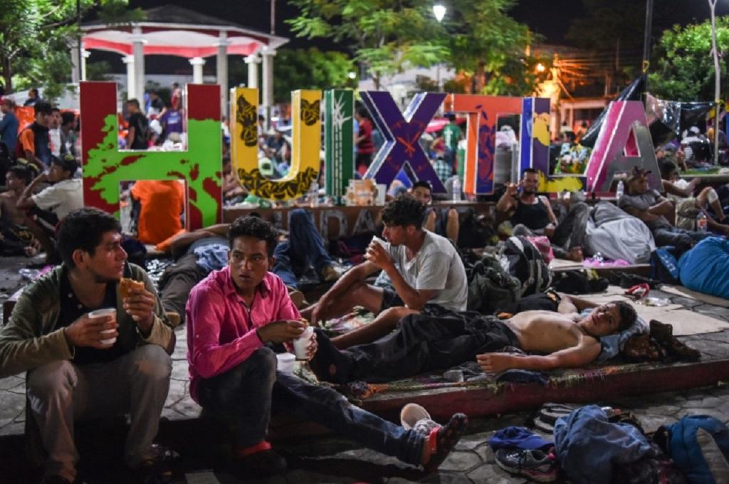 Menuju AS, Ribuan Imigran Beristirahat di Meksiko