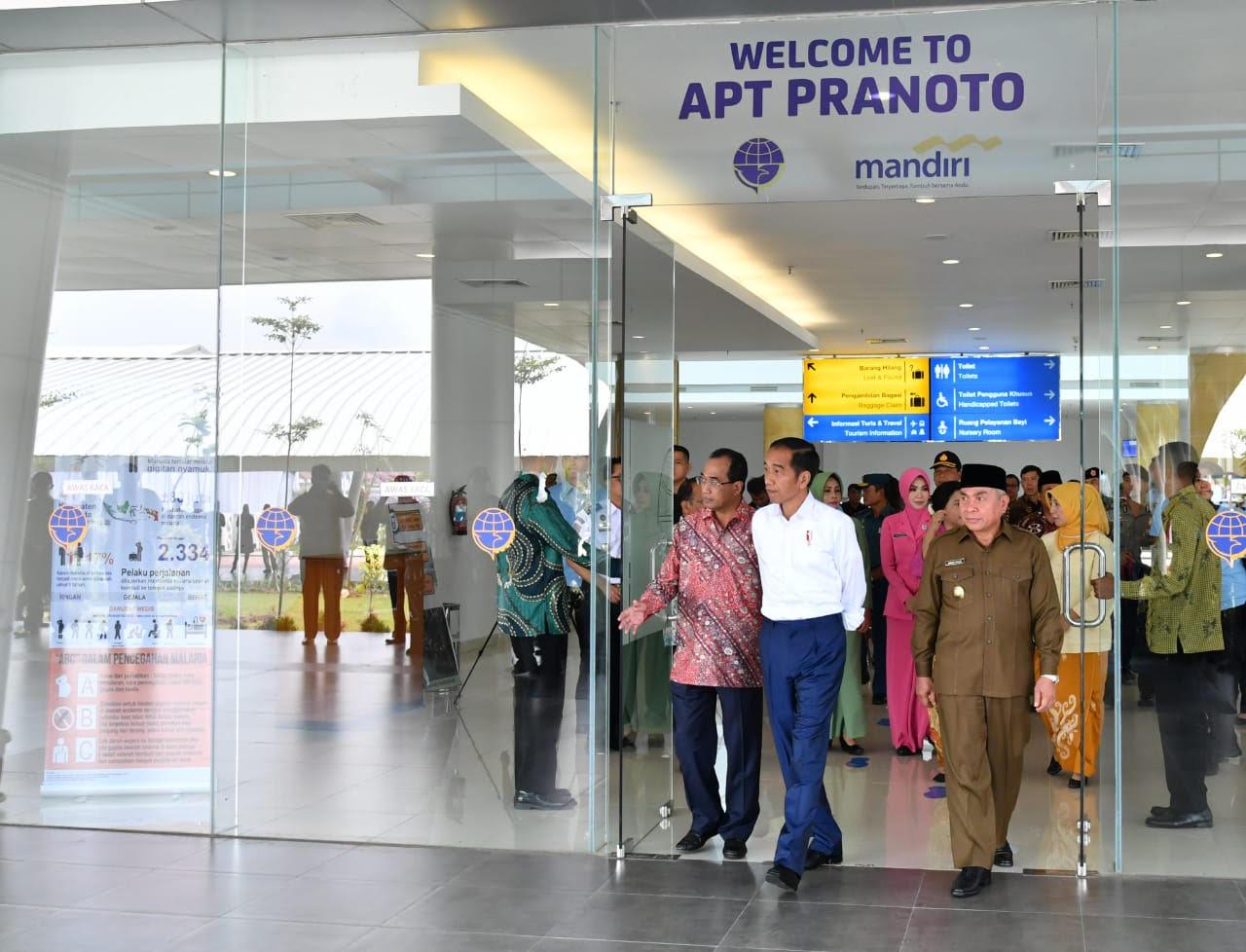 Bandara APT Pranoto Jadi Percontohan