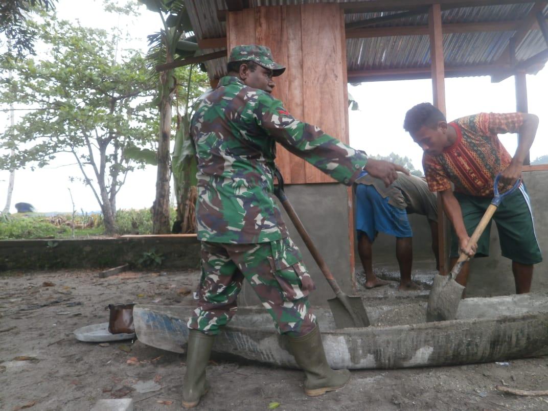 Satgas TMMD Bangun Enam Rumah di Kampung Nusaulan