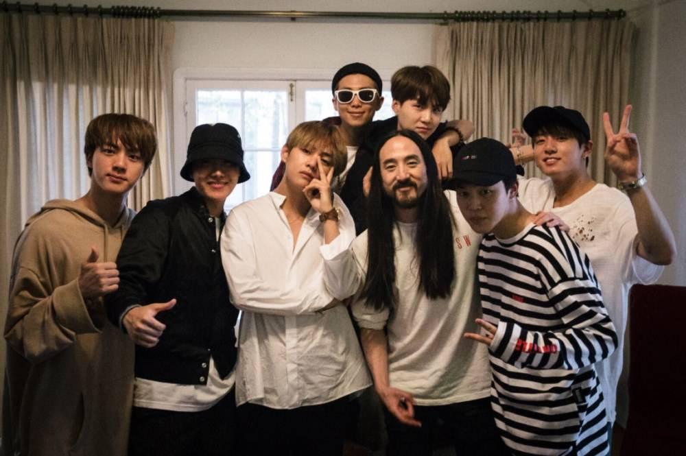 BTS Senang Kembali Berkolaborasi dengan Steve Aoki