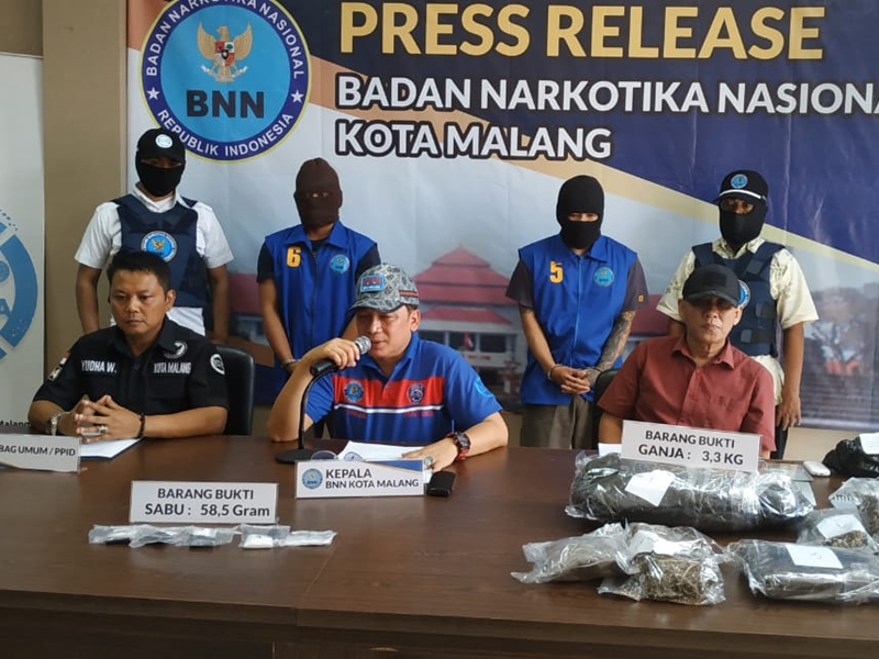 BNN Tangkap Bandar Ganja Kota Malang