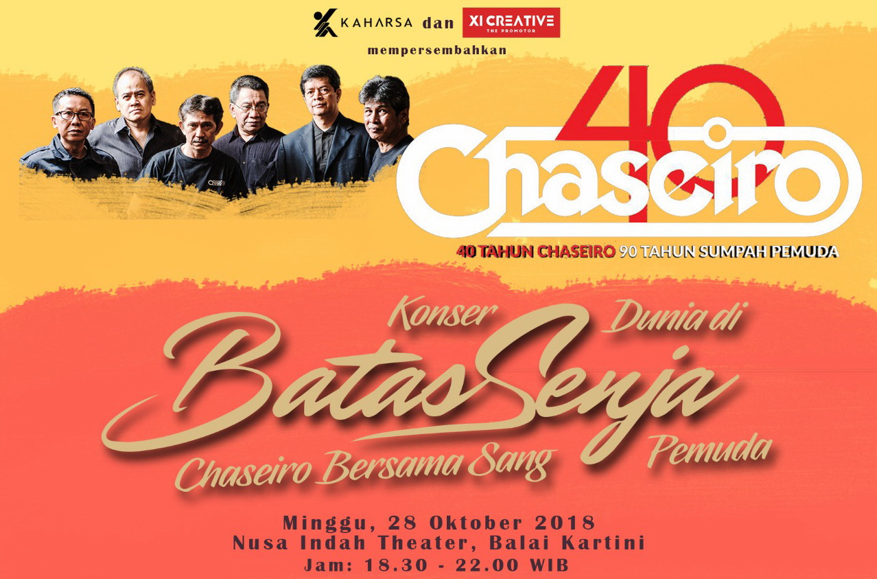 40 Tahun Berkarya, Chaseiro Gelar Konser di Hari Sumpah Pemuda