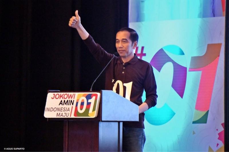 Salam Jempol Jokowi-Amin Diyakini Melambangkan Kebaikan