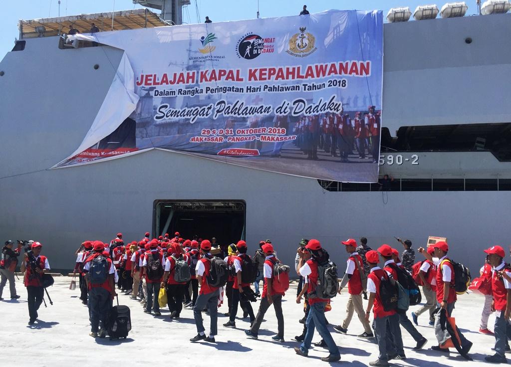 Kemensos Gandeng TNI AL Sukseskan Jelajah Kapal Kepahlawanan