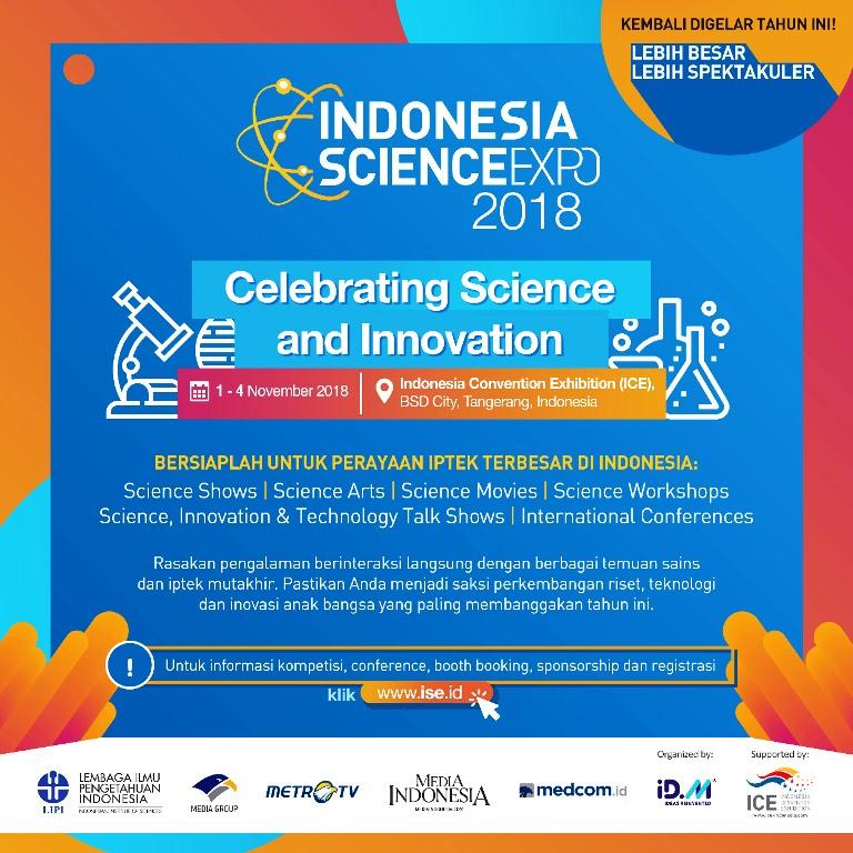 Indonesia Science Expo 2018 Hadir dalam Skala Lebih Besar