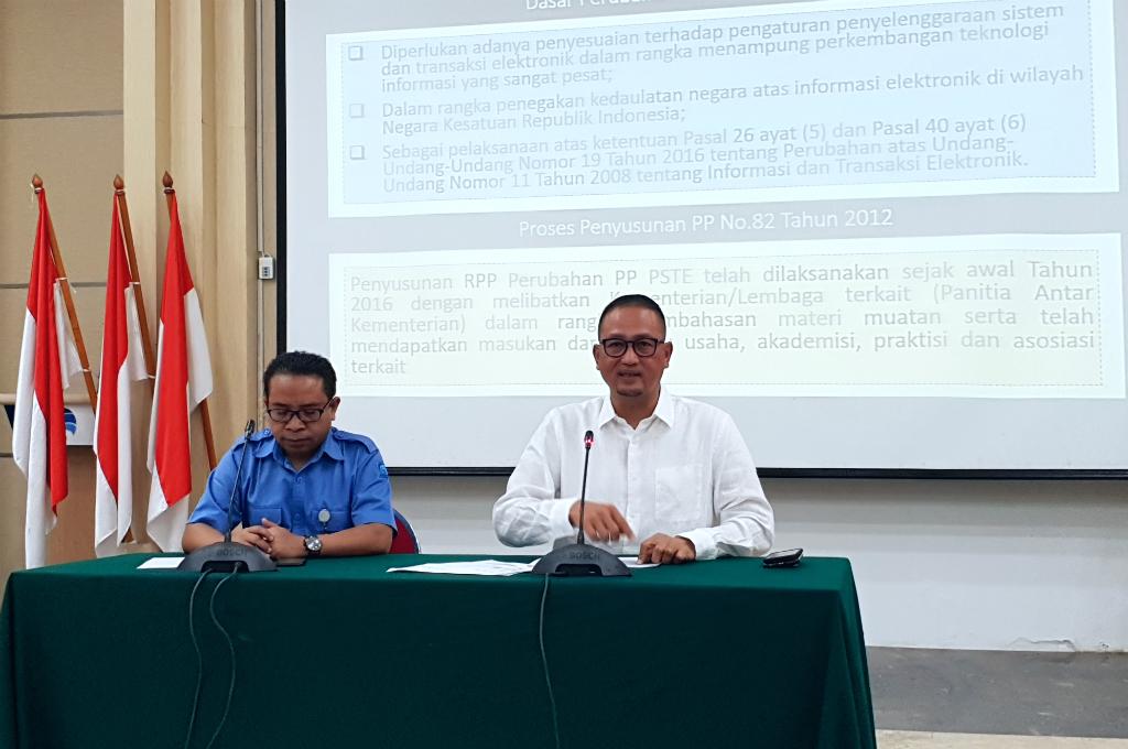 Kemenkominfo Umumkan Perubahan PP No 82 Tahun 2012
