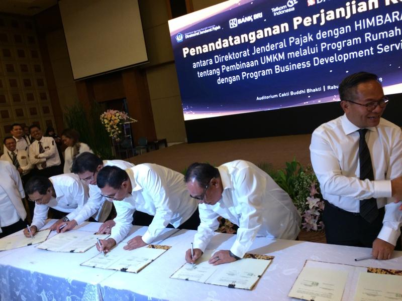 Lima BUMN Gandeng Ditjen Pajak Kembangkan Bisnis UMKM