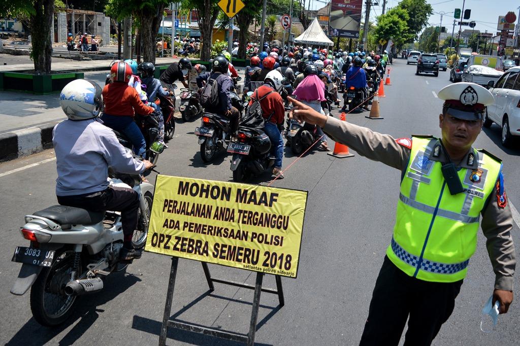 Dua Ribu Pengendara Terjaring Operasi Zebra di Palembang