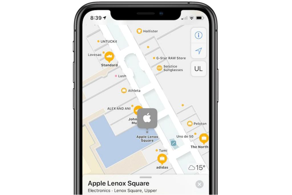 Apple Maps Punya Peta dalam Ruang