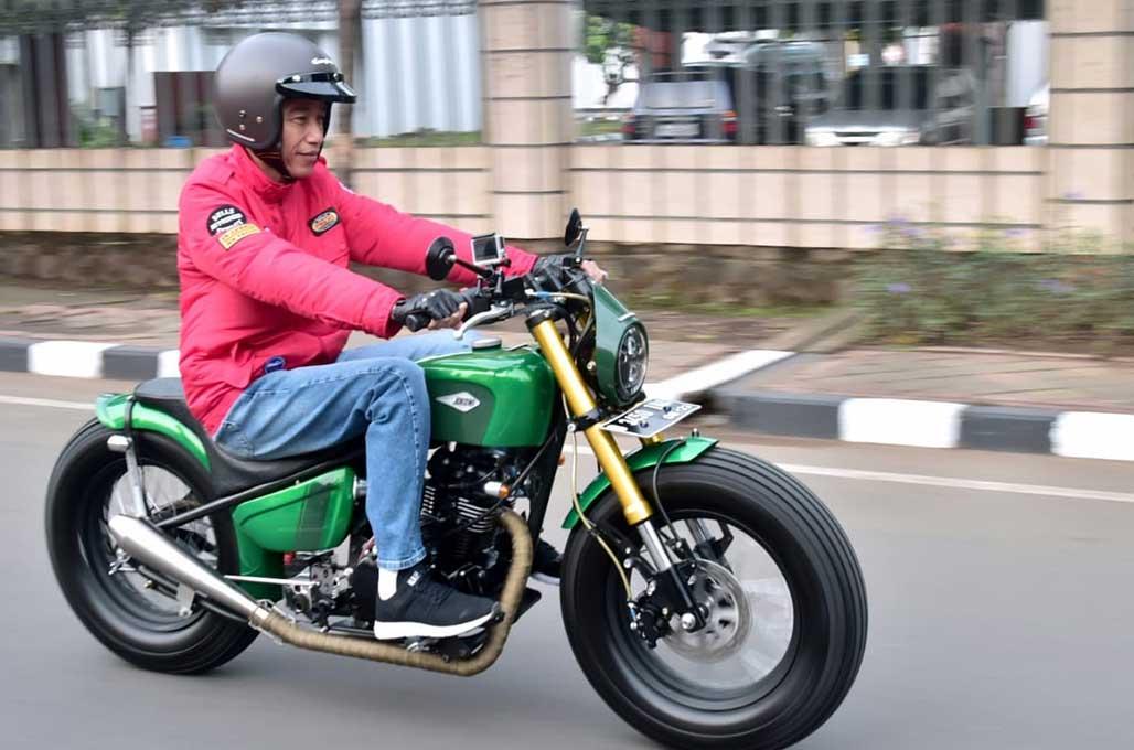 Kerennya Motor Custom Baru Jokowi