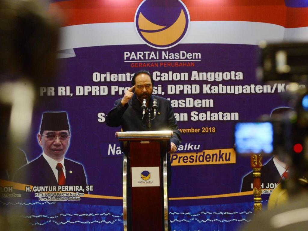 Surya Paloh Imbau Sosialisasi Pemilu 2019 Diperkuat