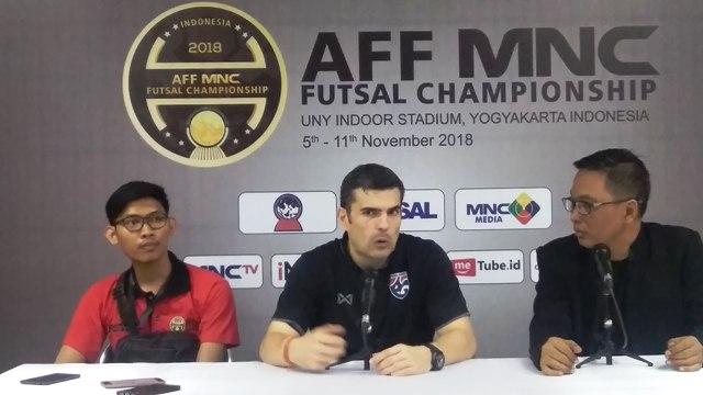 Pelatih Thailand Sebut Tim Futsal Indonesia Selevel