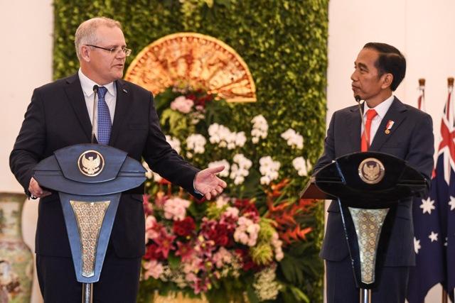Jokowi-Morrison Bahas Penanggulangan Terorisme