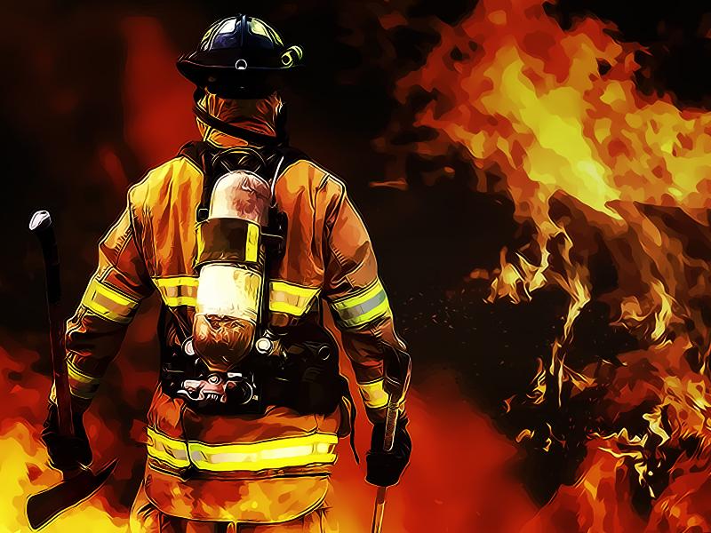 Ruang Kantor Kemenhan Kebakaran