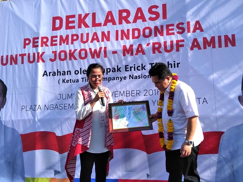 Perempuan Yogyakarta Deklarasikan Dukungan ke Jokowi-Maruf