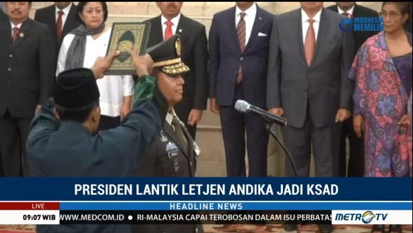 Andika Perkasa Inaugurated as Army Chief of Staff