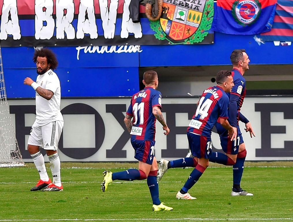 Eibar Menang Besar atas Real Madrid