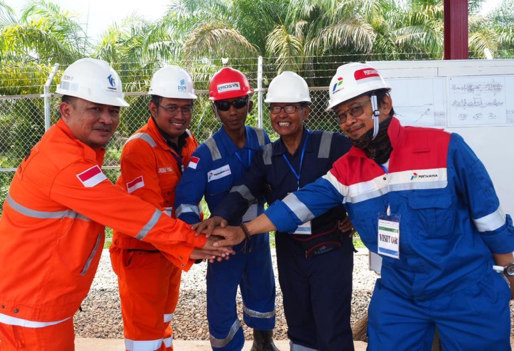 KSO PGN-Pertagas Alirkan Gas Perdana di Jaringan Pipa Transmisi Duri-Dumai