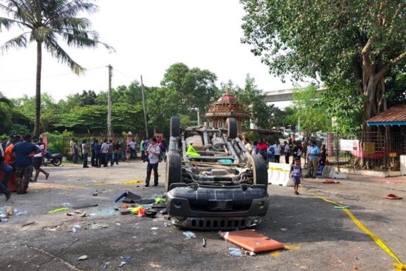 17 Orang Ditangkap dalam Kerusuhan di Kuil Malaysia