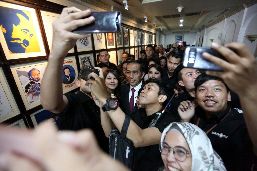 <i>Diary</i> Kedatangan Jokowi di Ultah <i>Metro TV</i>