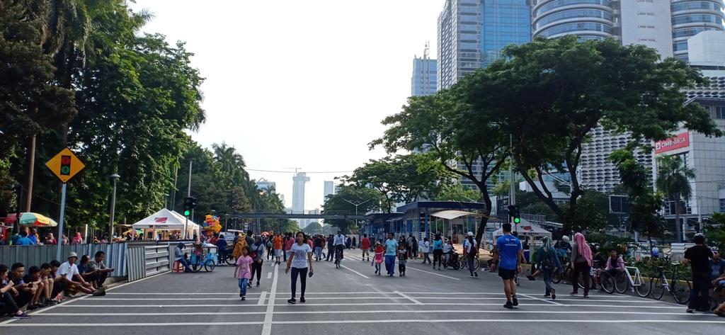 Masyarakat Tetap Antusias Ikuti CFD  di Sudirman