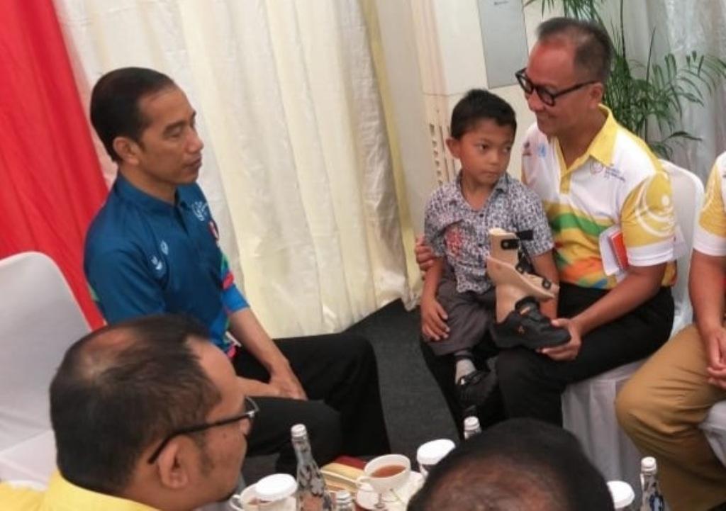 Jokowi Wujudkan Mimpi Bocah Difabel Sukabumi