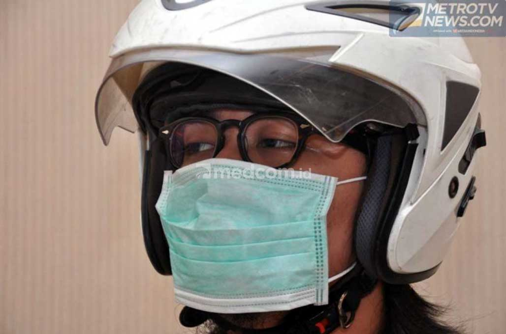 Masker Jenis Ini Tak Efektif untuk Berkendara