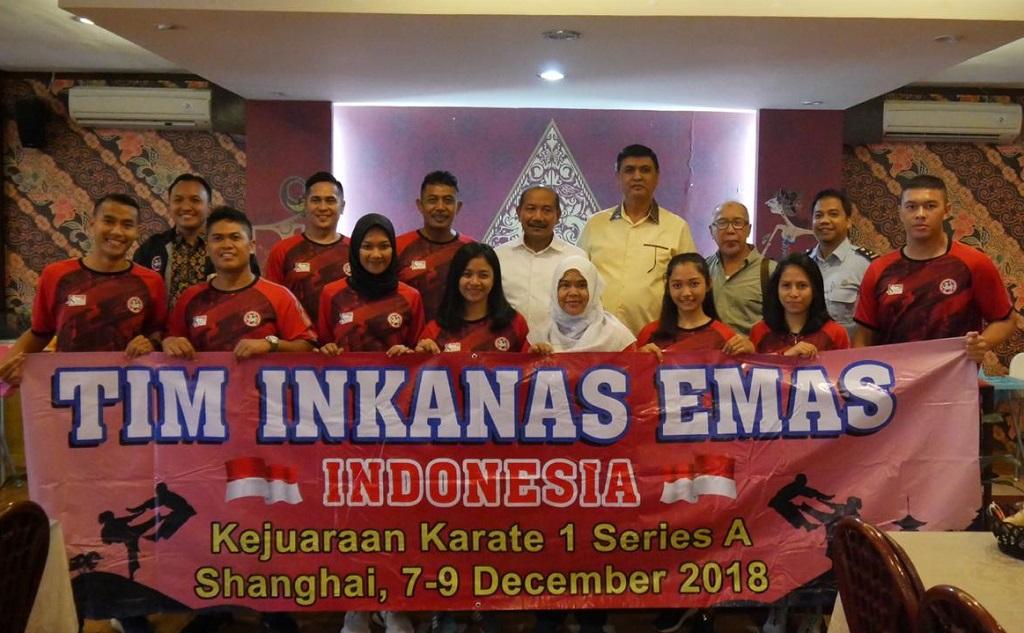 Tim Karate Inkanas Ikuti Kejuaraan Internasional di Shanghai