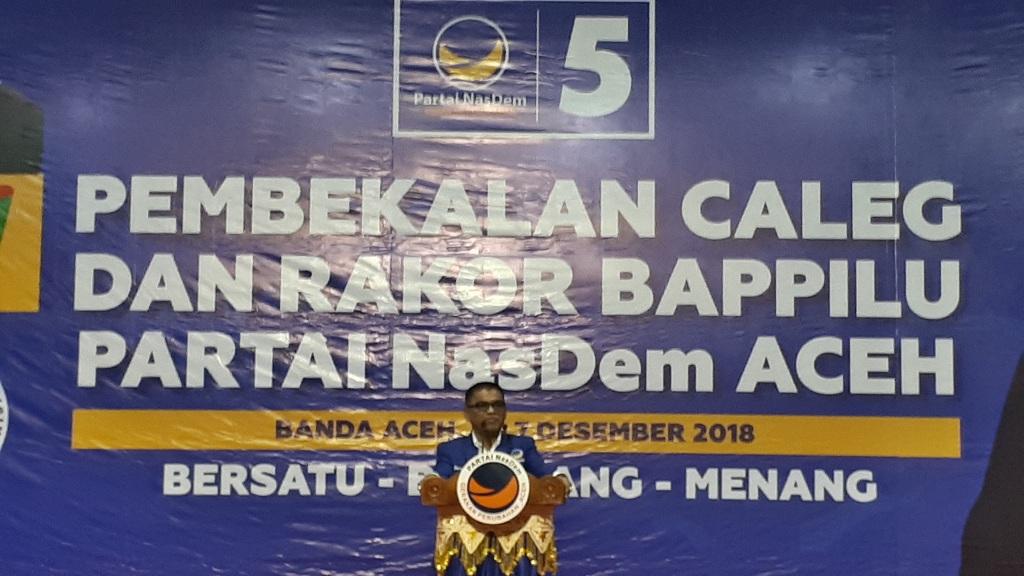 NasDem Aceh Siap Penuhi Target 4 Kursi DPR