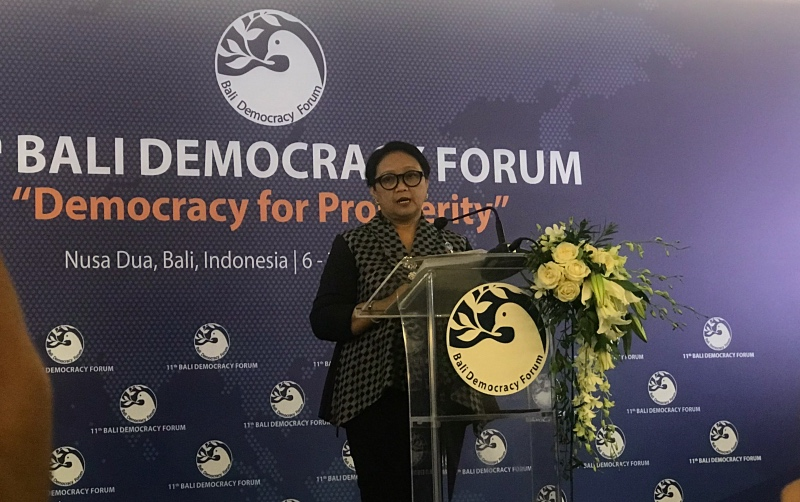 BDF Aims to Promote Democracy through Dialogue: FM Retno