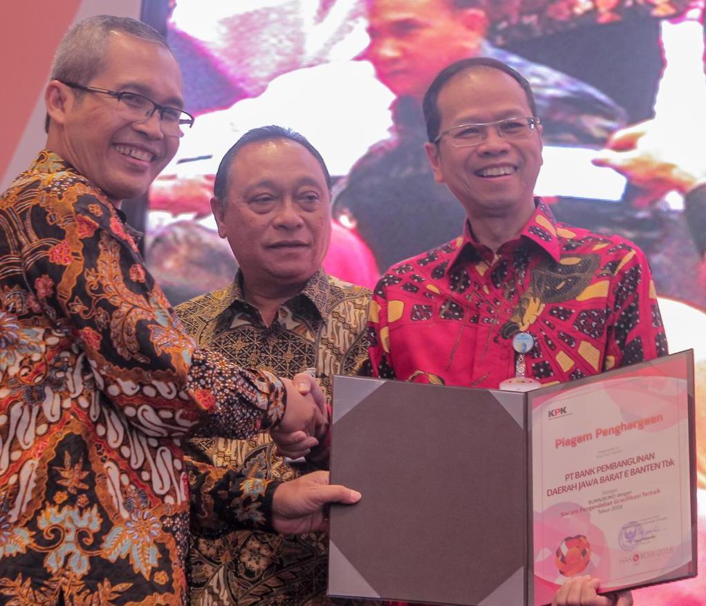 BJB Raih Penghargaan dari KPK