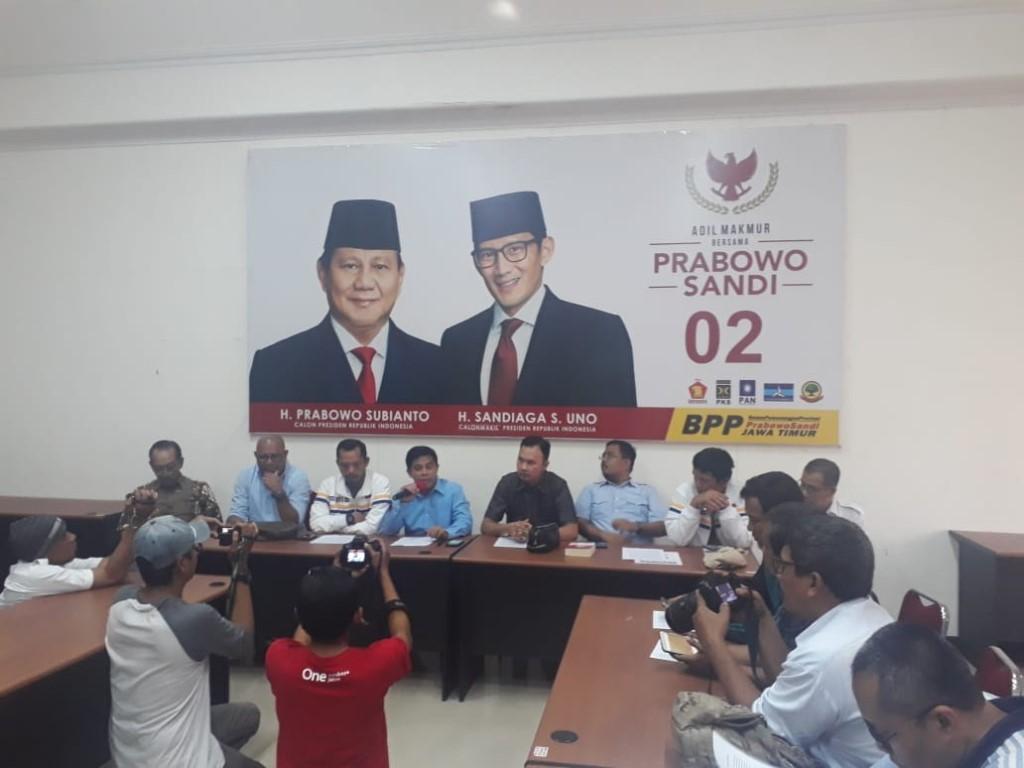 Prabowo-Sandi Lempar Handuk di Jatim