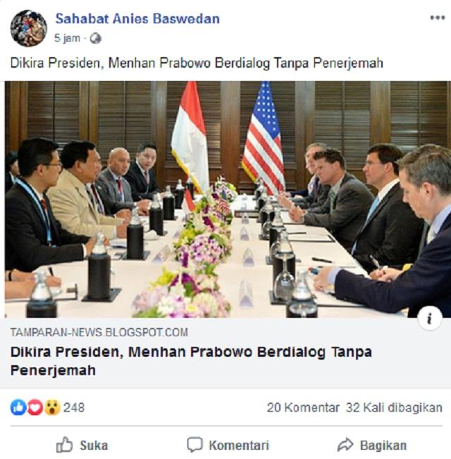 Prabowo Dikira Presiden di Bangkok? Ini Faktanya
