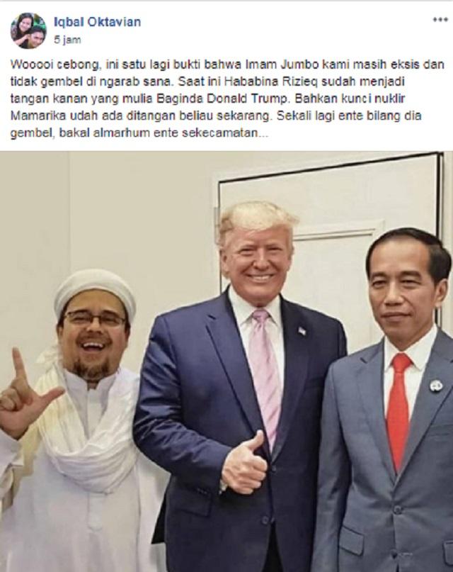 [Cek Fakta] Habib Rizieq jadi Tangan Kanan Donald Trump? Ini Faktanya