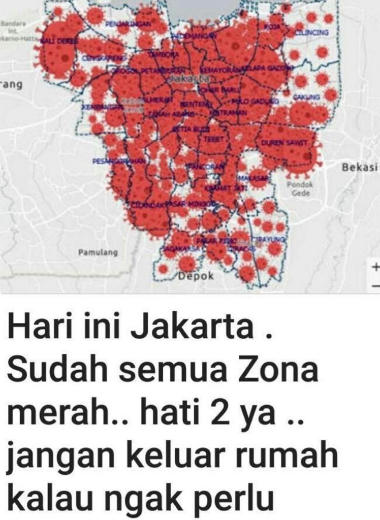 Cek Fakta Semua Wilayah Di Jakarta Masuk Zona Merah Cek Faktanya