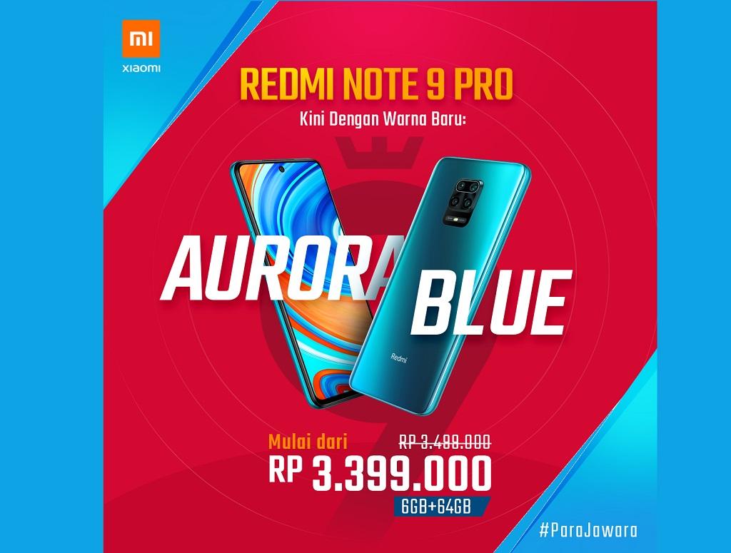 Redmi Note 9 Pro Tampil Kembali Pakai Warna Aurora Blue