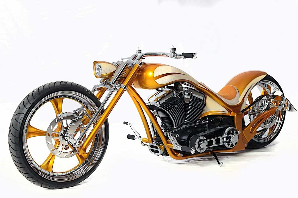 Harley Davidson Golden Lowrider Garapan Thunderbike Tampil Keren