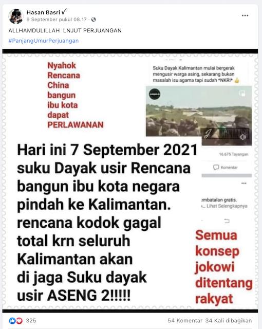 [Cek Fakta] Suku Dayak Kalimantan Usir Pembangunan Ibu Kota Baru? Ini Faktanya