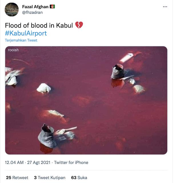 [Cek Fakta] Foto Penampakan Banjir Darah di Afghanistan? Ini Faktanya