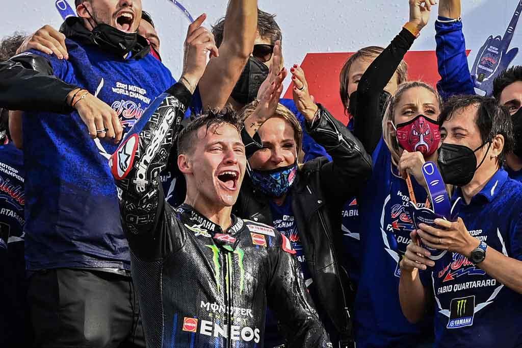 GP Emilia Romagna: Bagnaia Jatuh, Quartararo Juara Dunia